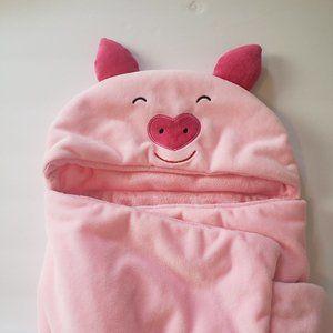 Other - Pink Piggy Babyt Hooded Bath Towel NWOT